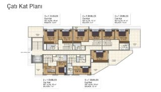 Brand New Flats in Alanya 200 mt to Mahmutlar Center, Property Plans-5