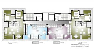 Centrally Located Alanya Apartments 350 mt to the Beach, Property Plans-6