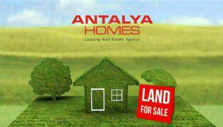Aksu'da İmarlı Satılık 2 Katlı Villa Arsası, Antalya / Aksu
