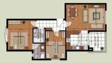 Апартаменты Лара Гольф, Планировка -3