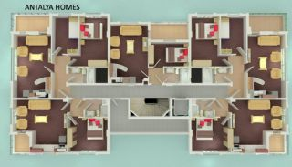Luxury Konyaalti Apartments in the Residential Complex, Property Plans-1