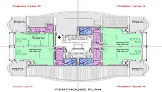 Antalya Property with Roomy Balconies in Konyaalti, Property Plans-2