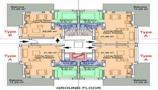 Antalya Property with Roomy Balconies in Konyaalti, Property Plans-3
