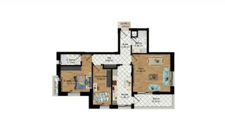 High-Quality Apartments with Separate Kitchen in Antalya, Property Plans-1