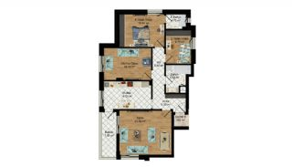 High-Quality Apartments with Separate Kitchen in Antalya, Property Plans-2