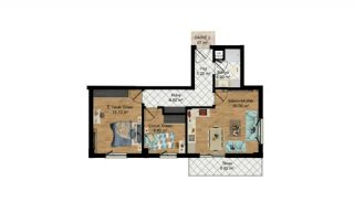 High-Quality Apartments with Separate Kitchen in Antalya, Property Plans-3