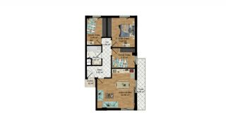 High-Quality Apartments with Separate Kitchen in Antalya, Property Plans-5