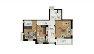 High-Quality Apartments with Separate Kitchen in Antalya, Property Plans-7