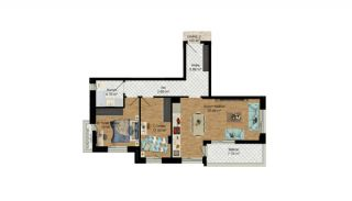 High-Quality Apartments with Separate Kitchen in Antalya, Property Plans-8