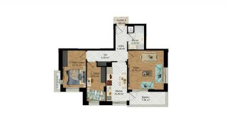 High-Quality Apartments with Separate Kitchen in Antalya, Property Plans-9