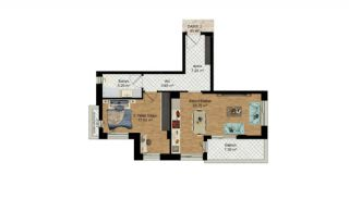 High-Quality Apartments with Separate Kitchen in Antalya, Property Plans-11