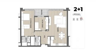 Panoramic View Apartments with Shopping Street in Antalya, Property Plans-6