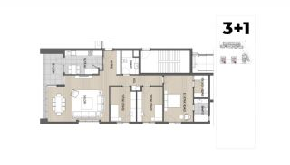 Panoramic View Apartments with Shopping Street in Antalya, Property Plans-8