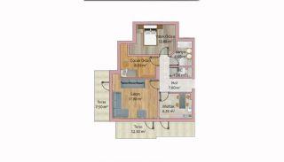 Недвижимость в Анталии с Панорамным Видом на Город и Море, Планировка -3