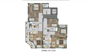Strategiskt belägna Antalya lägenheter nära busshållplatser, Planritningar-1