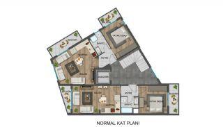 Strategiskt belägna Antalya lägenheter nära busshållplatser, Planritningar-2