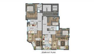 Strategiskt belägna Antalya lägenheter nära busshållplatser, Planritningar-3