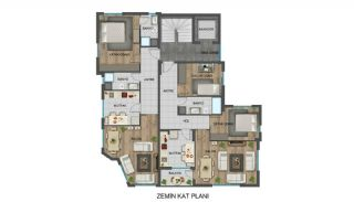Strategisch gelegen appartementen in Antalya, dicht bij bushaltes, Vloer Plannen-3