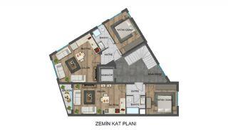 Strategiskt belägna Antalya lägenheter nära busshållplatser, Planritningar-4