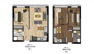 Prisvärda lägenheter nära Antalyas flygplats i Kepez, Planritningar-1