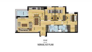Prisvärda lägenheter nära Antalyas flygplats i Kepez, Planritningar-2