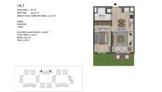 New Apartments in Smart City Complex with Tramline in Antalya, Property Plans-1