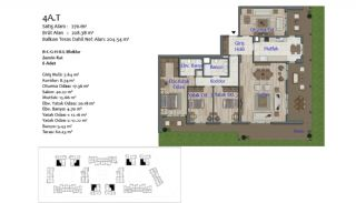 New Apartments in Smart City Complex with Tramline in Antalya, Property Plans-10