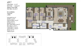 New Apartments in Smart City Complex with Tramline in Antalya, Property Plans-11