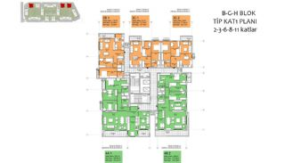 New Apartments in Smart City Complex with Tramline in Antalya, Property Plans-15