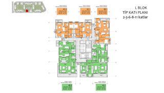 Nya lägenheter i Smart City Complex med spårvagnslinje i Antalya, Planritningar-16