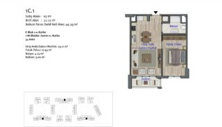 New Apartments in Smart City Complex with Tramline in Antalya, Property Plans-2