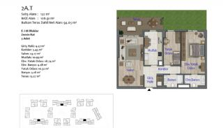 New Apartments in Smart City Complex with Tramline in Antalya, Property Plans-4