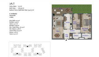 Nya lägenheter i Smart City Complex med spårvagnslinje i Antalya, Planritningar-4