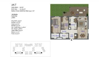 New Apartments in Smart City Complex with Tramline in Antalya, Property Plans-6