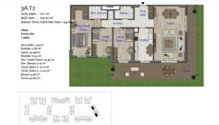 New Apartments in Smart City Complex with Tramline in Antalya, Property Plans-8