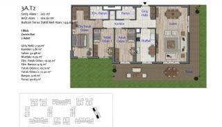 Nya lägenheter i Smart City Complex med spårvagnslinje i Antalya, Planritningar-8