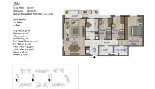 New Apartments in Smart City Complex with Tramline in Antalya, Property Plans-9