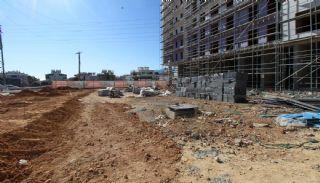 Gloednieuwe investeringsappartementen nabij tramlijn in Kepez Antalya, Bouw Fotos-10
