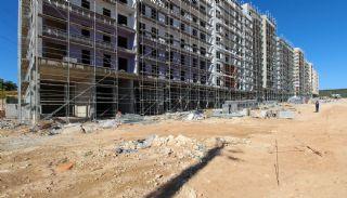 Gloednieuwe investeringsappartementen nabij tramlijn in Kepez Antalya, Bouw Fotos-11
