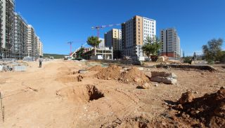 Gloednieuwe investeringsappartementen nabij tramlijn in Kepez Antalya, Bouw Fotos-12
