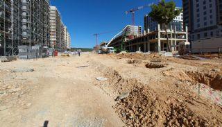 Gloednieuwe investeringsappartementen nabij tramlijn in Kepez Antalya, Bouw Fotos-9
