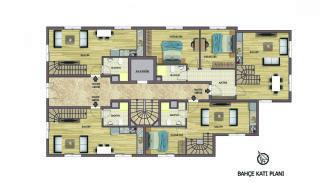 Hoogwaardig appartementen te koop in Konyaalti Antalya, Vloer Plannen-1
