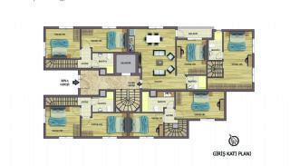 Hoogwaardig appartementen te koop in Konyaalti Antalya, Vloer Plannen-2