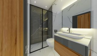Lägenheter med havsutsikt till överkomliga priser i Alanya Mahmutlar, Interiör bilder-19