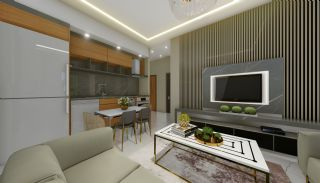 Lägenheter med havsutsikt till överkomliga priser i Alanya Mahmutlar, Interiör bilder-20