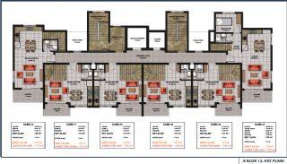 Lägenheter med havsutsikt till överkomliga priser i Alanya Mahmutlar, Planritningar-3