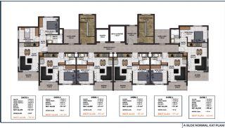 Lägenheter med havsutsikt till överkomliga priser i Alanya Mahmutlar, Planritningar-4