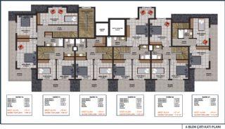 Lägenheter med havsutsikt till överkomliga priser i Alanya Mahmutlar, Planritningar-5