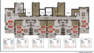 Lägenheter med havsutsikt till överkomliga priser i Alanya Mahmutlar, Planritningar-6