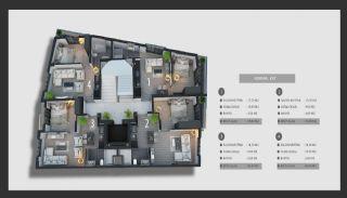 Квартиры в Анталии с Перспективой Хорошего Дохода от Аренды, Планировка -1
